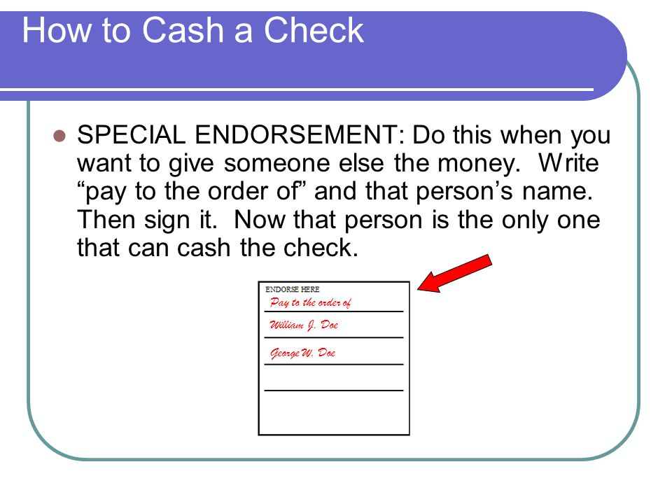 How to Cash a Check