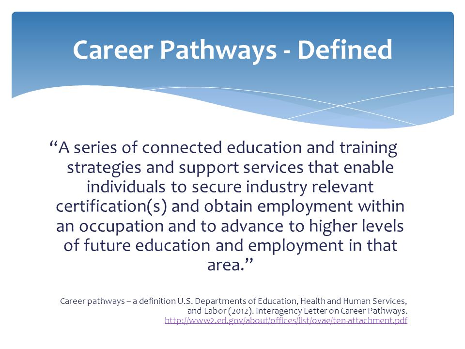 Career Pathways - Defined