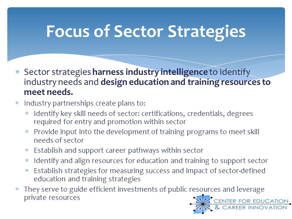 Focus of Sector Strategies