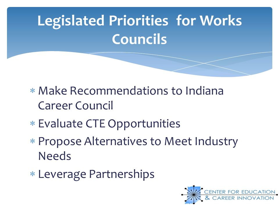 Legislated Priorities for Works Councils