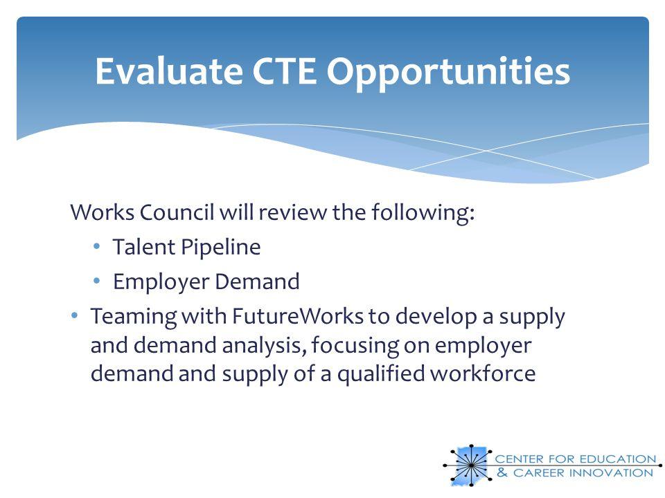 Evaluate CTE Opportunities
