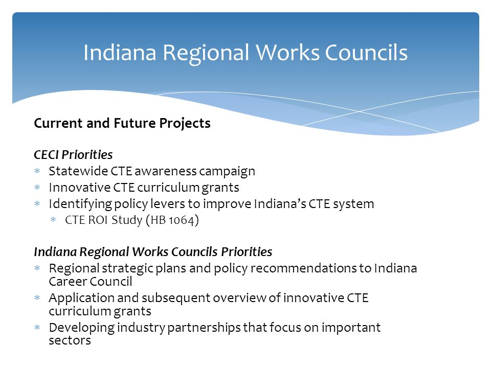 Indiana Regional Works Councils