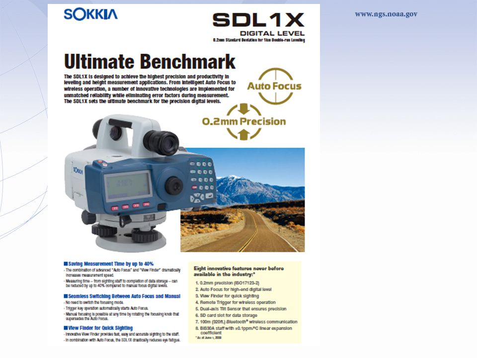 Observing guidelines developed for the Sokkia SDL1X digital leveling systems currently being developed to streamline field data collection in support of the NGS Blue Book process and Translev software.