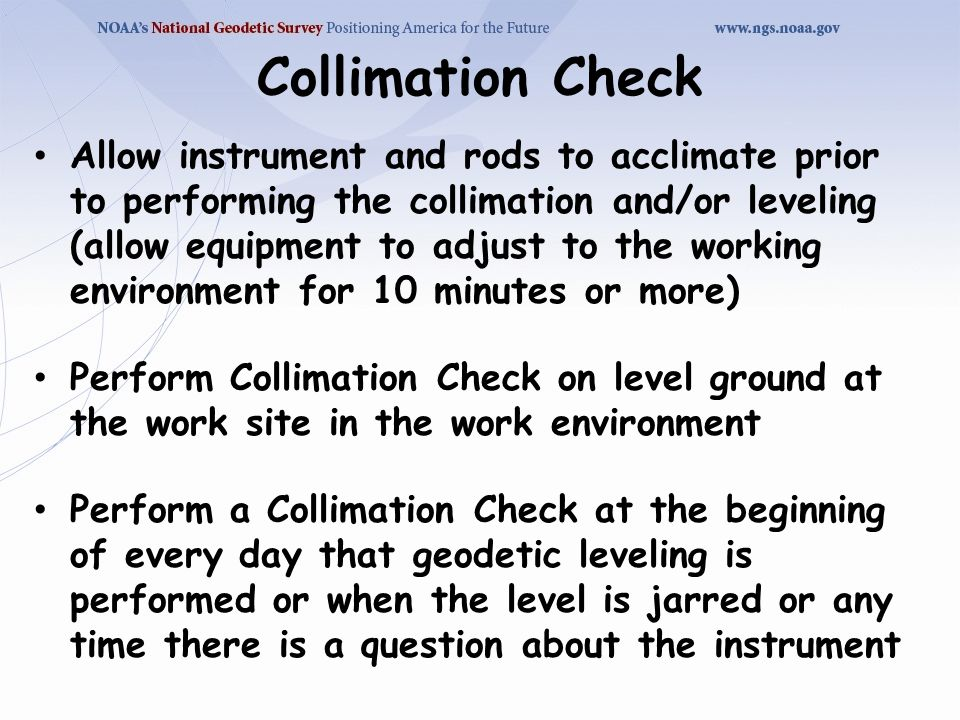 Collimation Check
