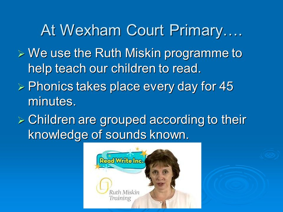 At Wexham Court Primary….