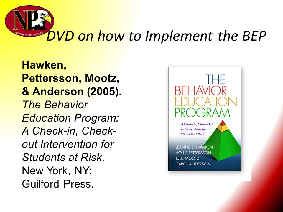 DVD on how to Implement the BEP