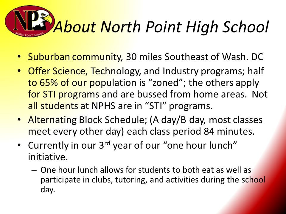 About North Point High School