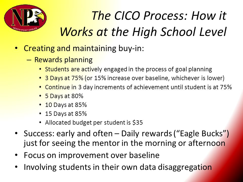 The CICO Process: How it Works at the High School Level