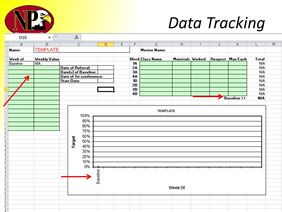 Data Tracking Blank tracking sheet