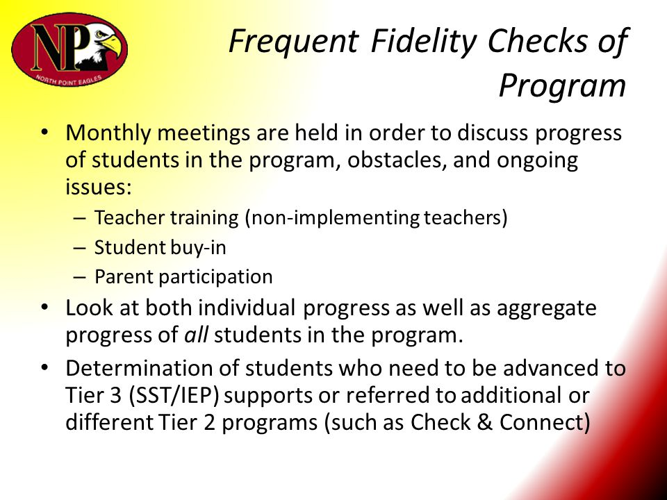 Frequent Fidelity Checks of Program