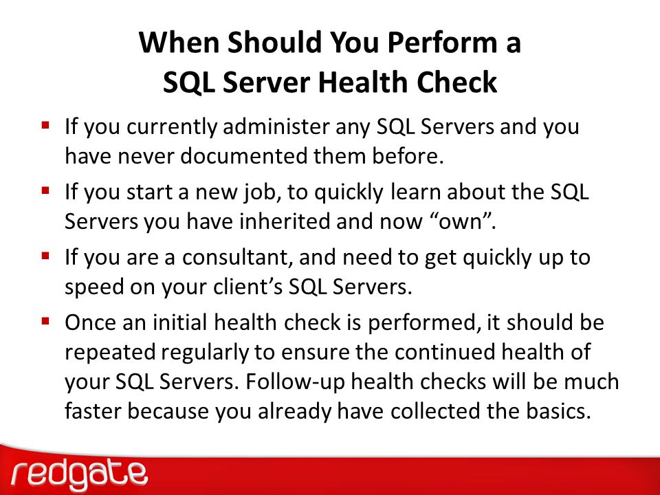 When Should You Perform a SQL Server Health Check