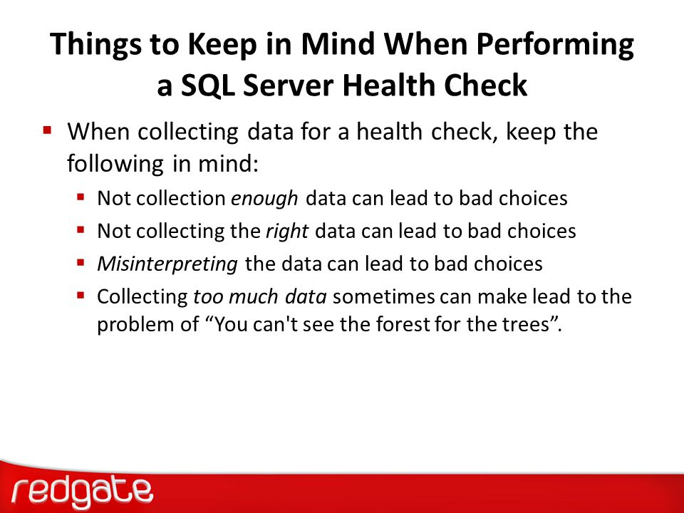 Things to Keep in Mind When Performing a SQL Server Health Check