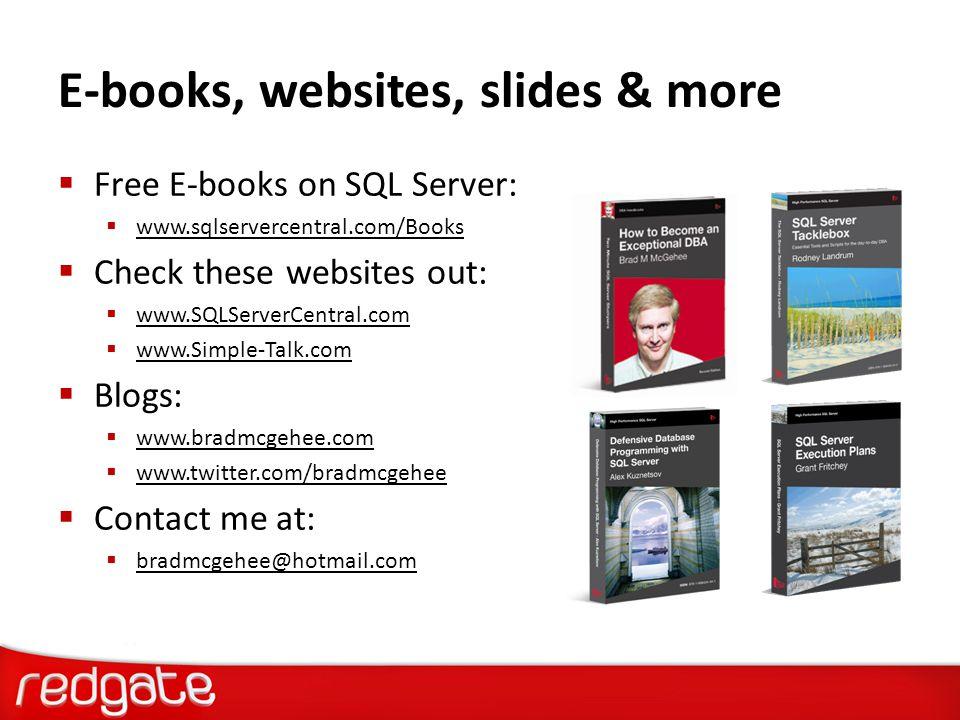 E-books, websites, slides & more