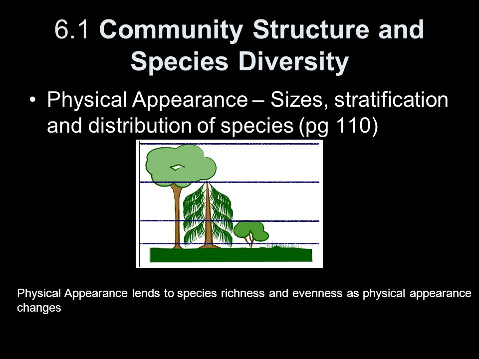 6.1 Community Structure and Species Diversity