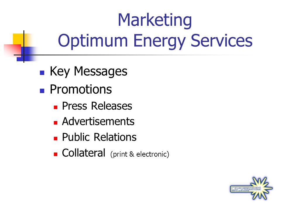 Marketing Optimum Energy Services
