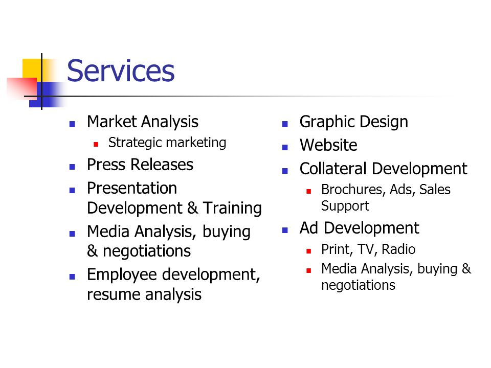 Services Market Analysis Press Releases