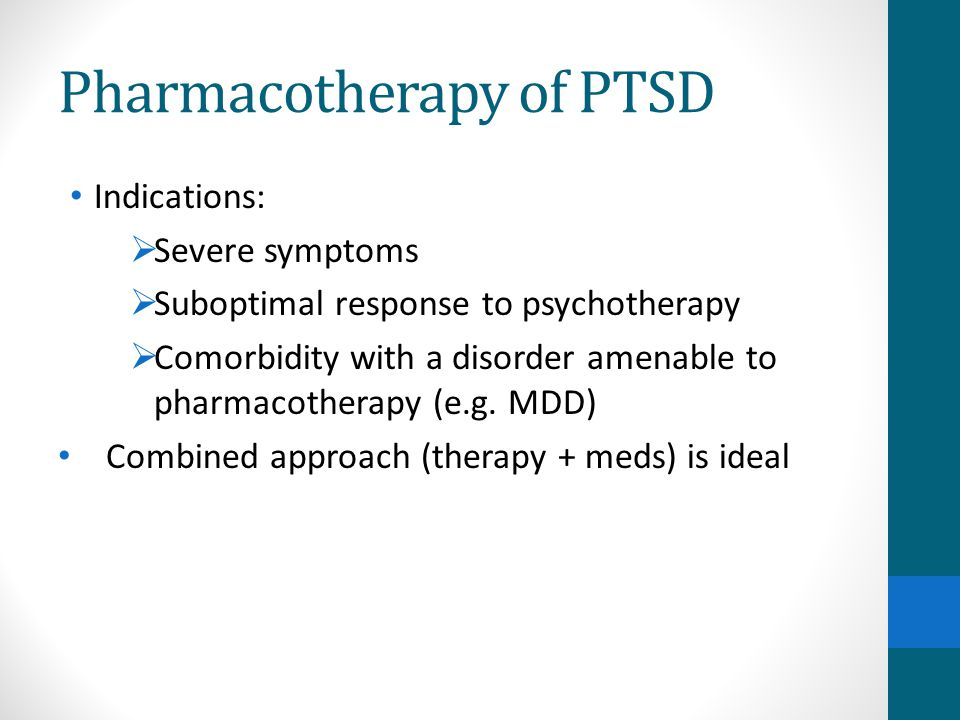 Pharmacotherapy of PTSD