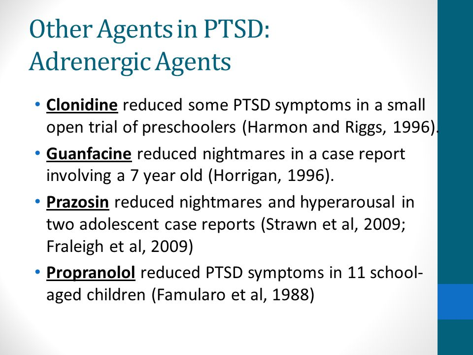 Other Agents in PTSD: Adrenergic Agents