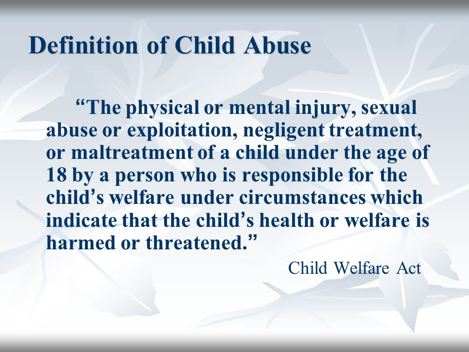 child abuse definition essay