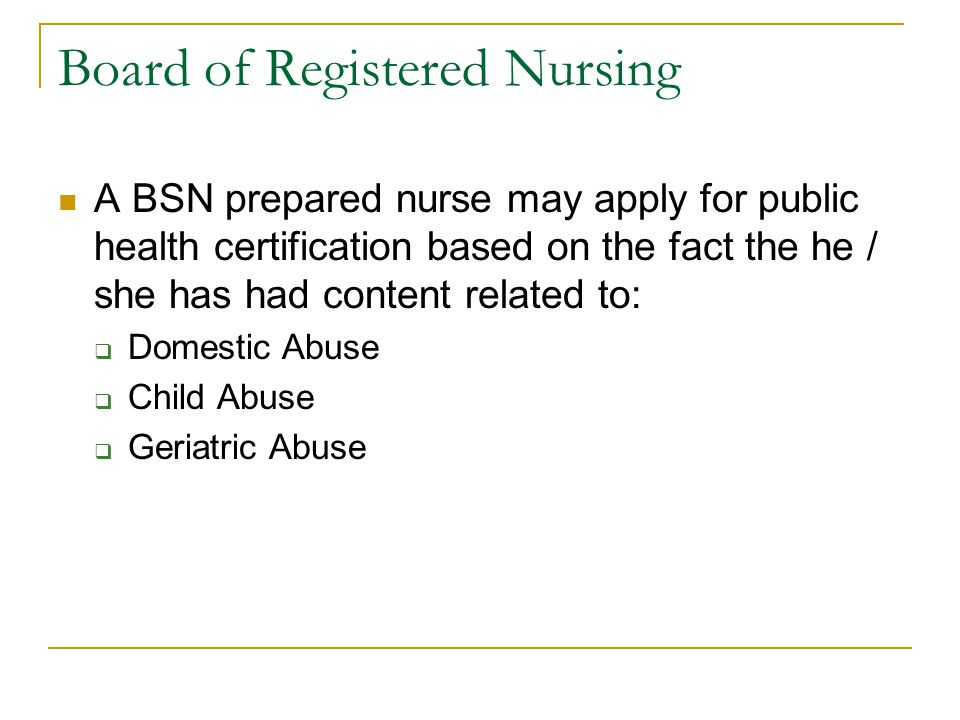 Board of Registered Nursing