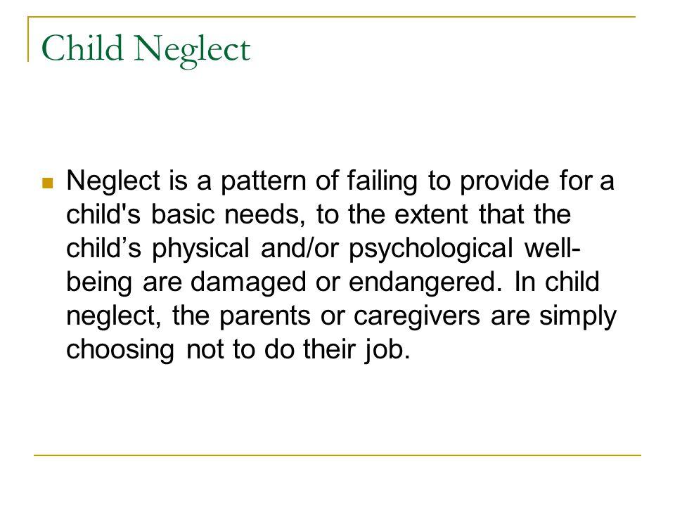 Child Neglect