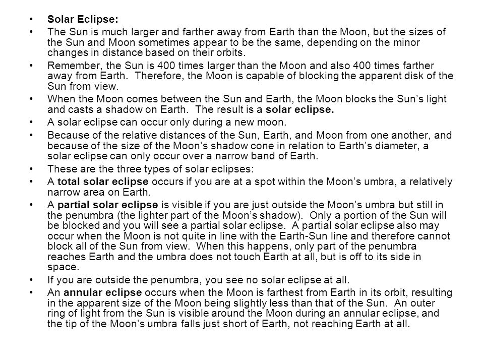 Solar Eclipse: