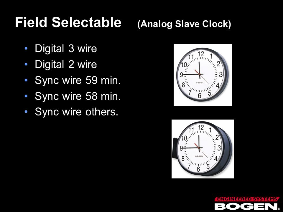 Field Selectable (Analog Slave Clock)