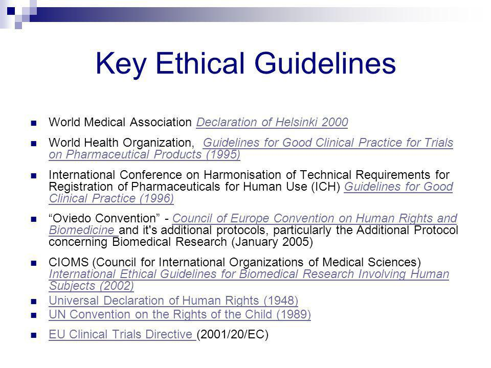 Key Ethical Guidelines