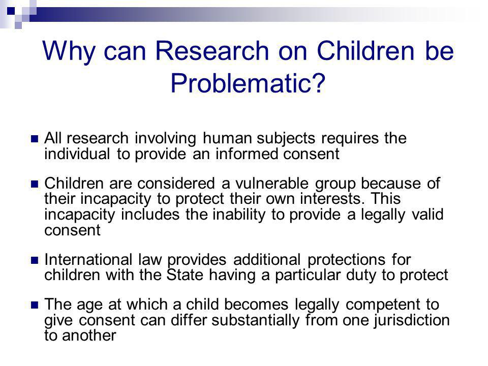 Why can Research on Children be Problematic