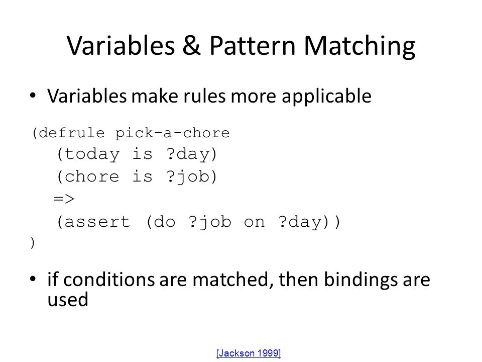 Variables & Pattern Matching