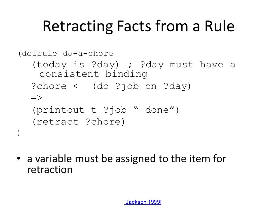 Retracting Facts from a Rule