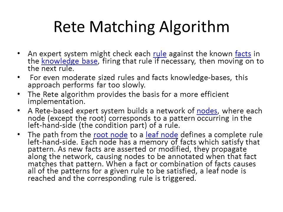 Rete Matching Algorithm