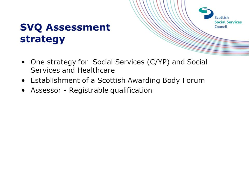 SVQ Assessment strategy
