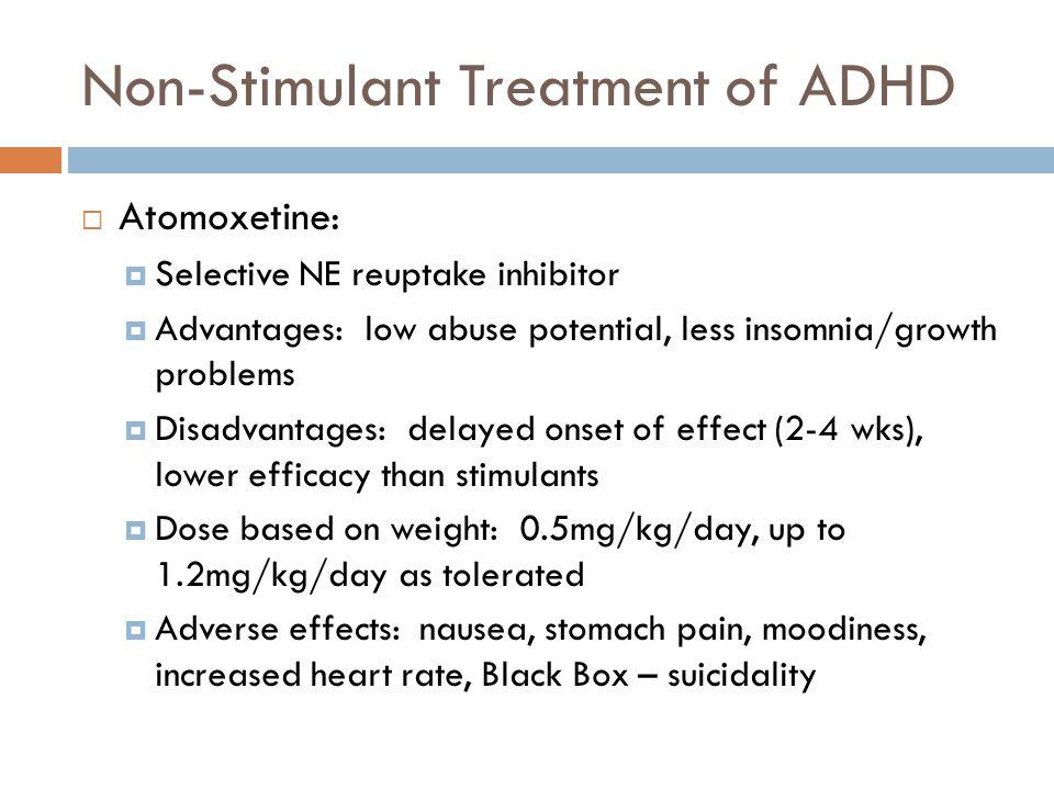 Non-Stimulant Treatment of ADHD