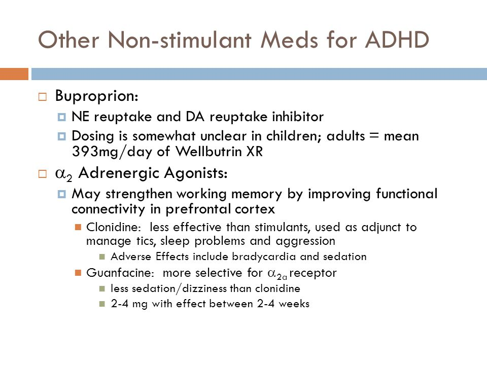 Other Non-stimulant Meds for ADHD