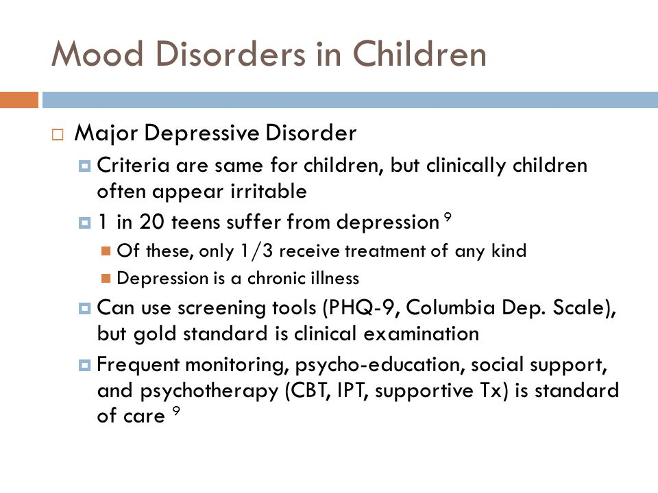 Mood Disorders in Children