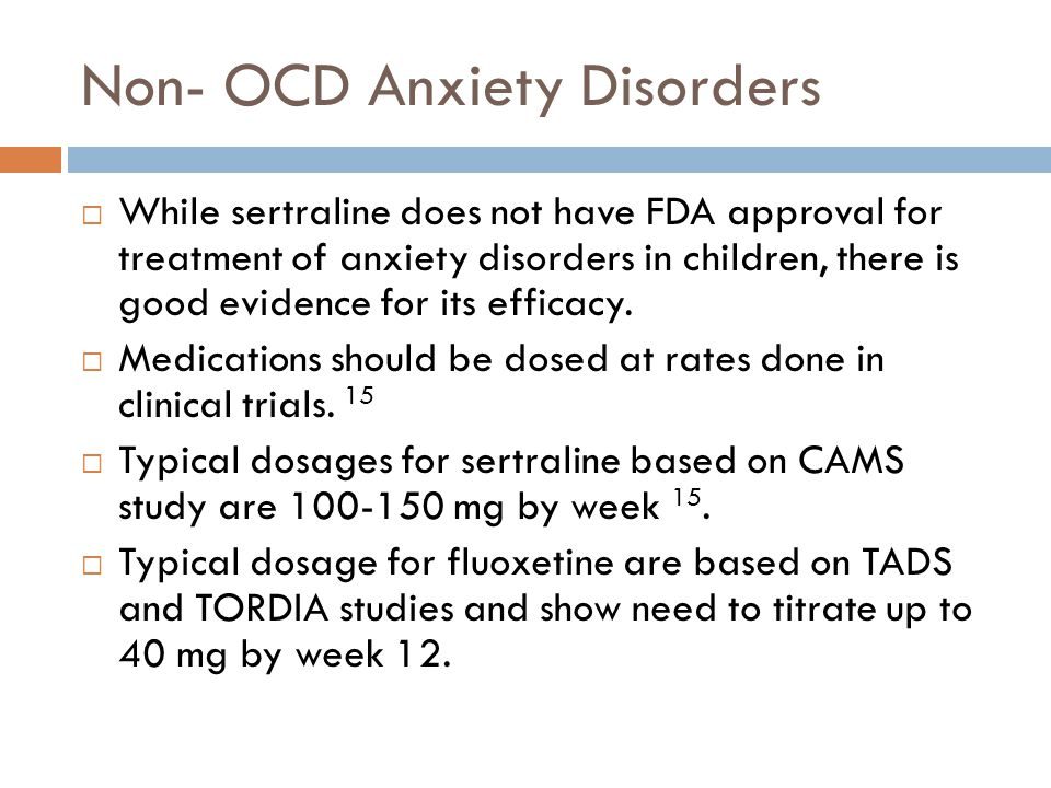 Non- OCD Anxiety Disorders