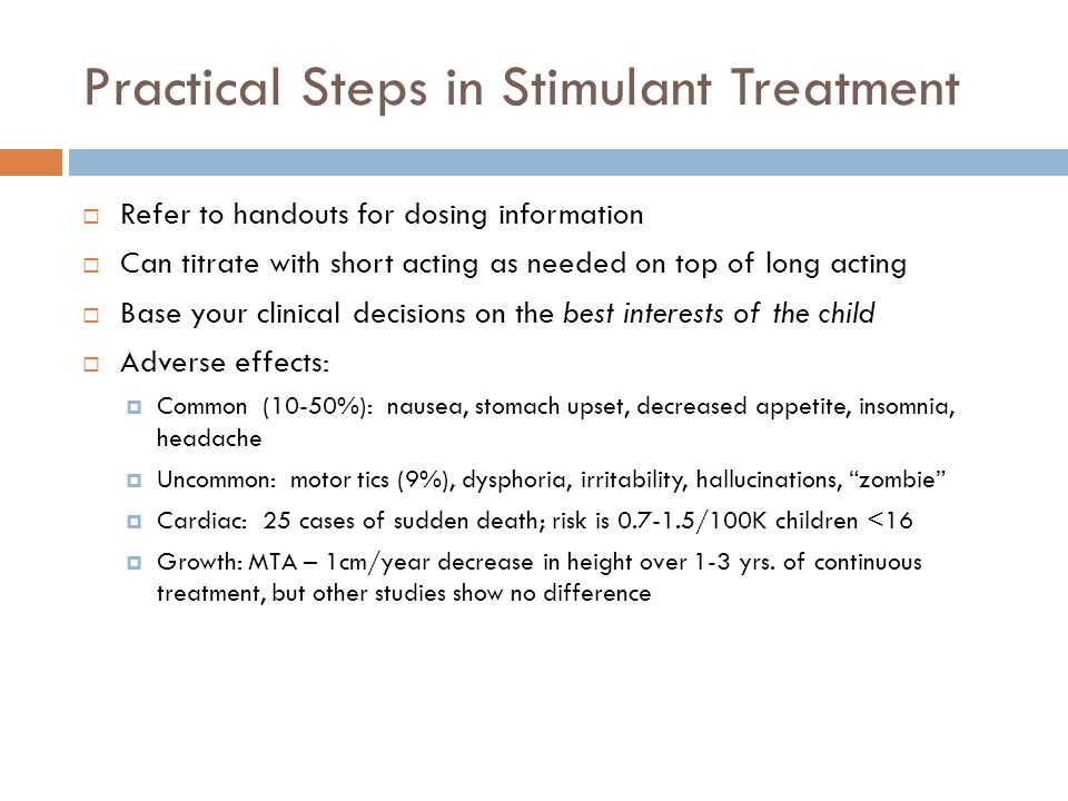 Practical Steps in Stimulant Treatment