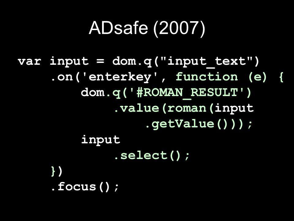 ADsafe (2007)