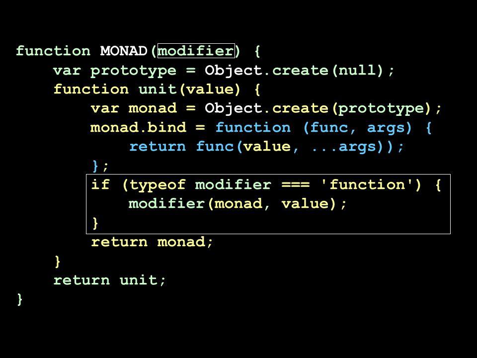 function MONAD(modifier) { var prototype = Object