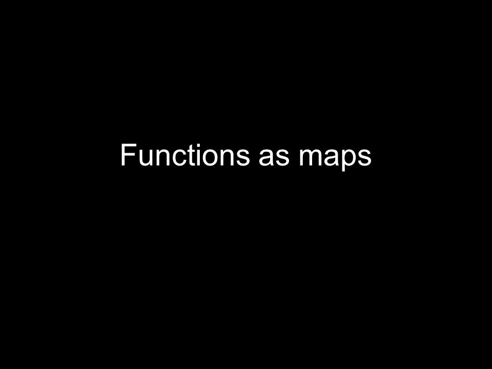Functions as maps