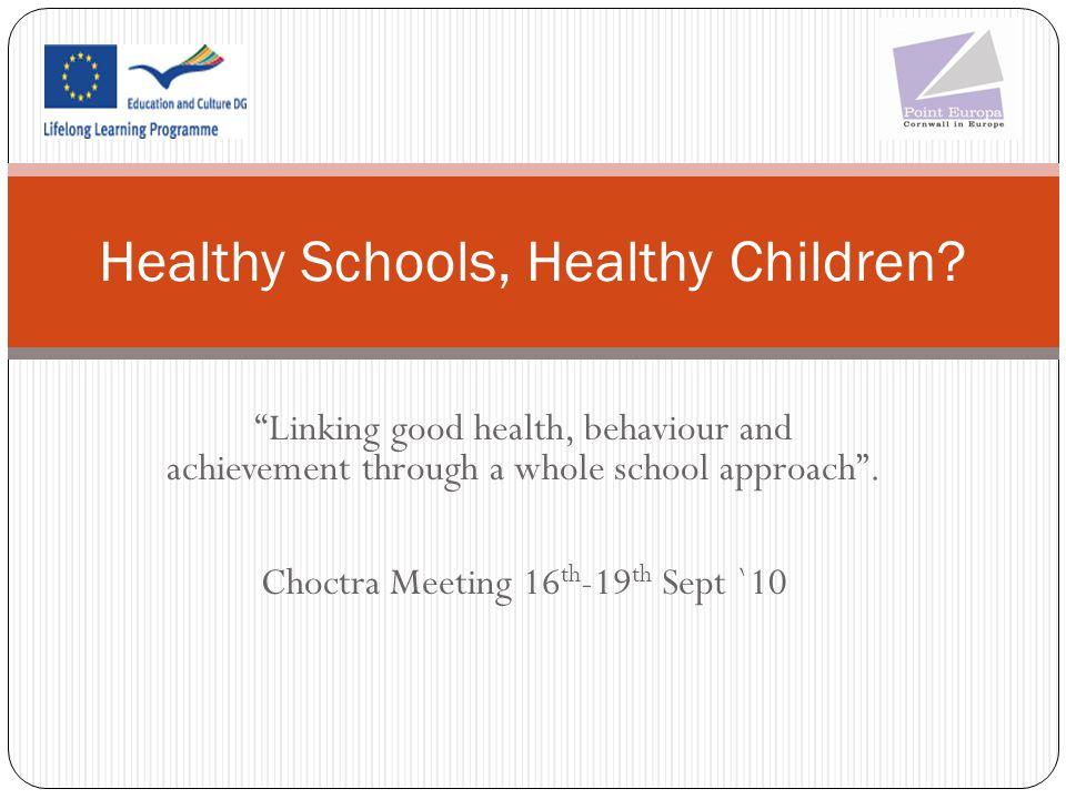 Healthy Schools, Healthy Children