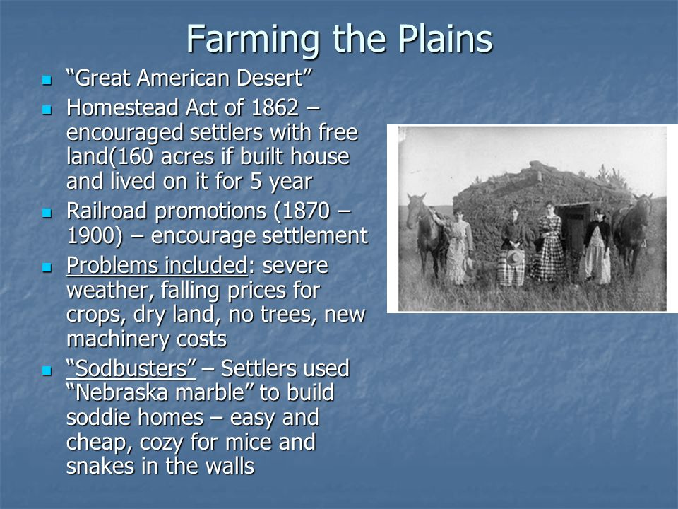Farming the Plains Great American Desert
