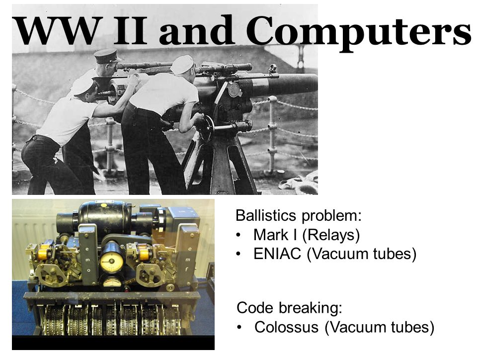 WW II and Computers Ballistics problem: Mark I (Relays)