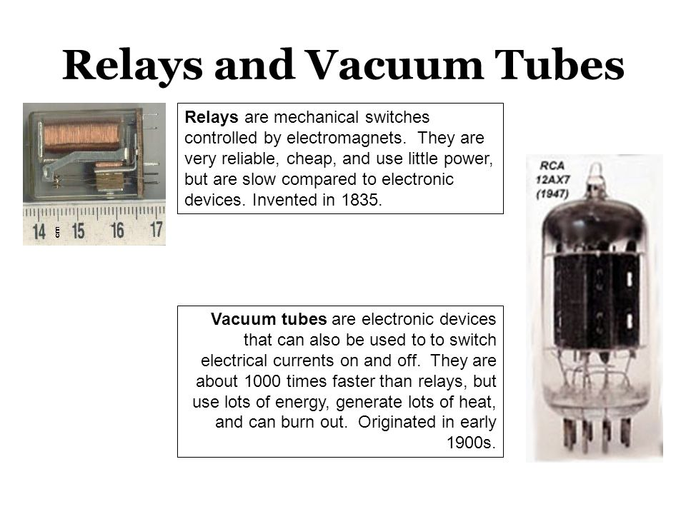 Relays and Vacuum Tubes