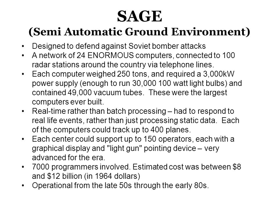 SAGE (Semi Automatic Ground Environment)
