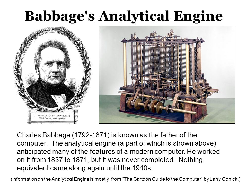 Babbage s Analytical Engine