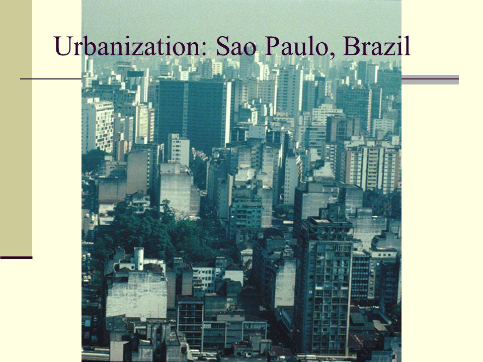Urbanization: Sao Paulo, Brazil