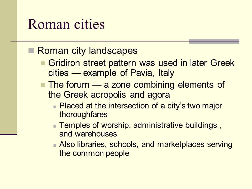 Roman cities Roman city landscapes