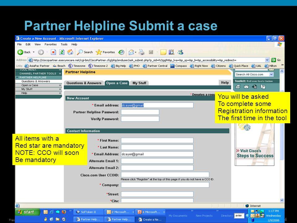 Partner Helpline Submit a case
